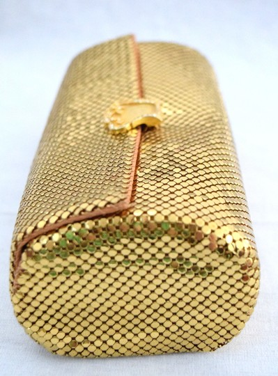 Other Small Elegant Evening Gold with rhinestone details Clutch