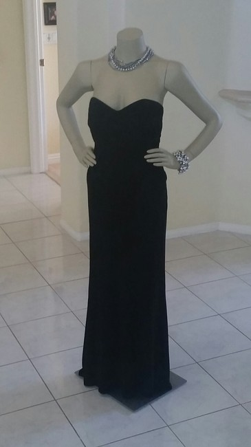 Item - Black Bustier Style Formal Bridesmaid/Mob Dress Size Petite 6 (S)