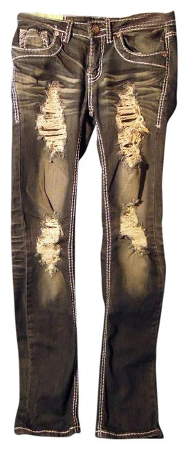 Other Distressed Straight Leg Jeans-Distressed