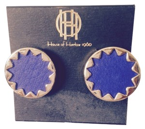 House of Harlow 1960 Royal Blue Leather Gold-Tone