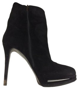 Le Silla Black Suede Midcalf Boots