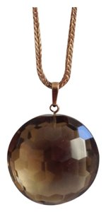 14K Gold Faceted Smokey Quartz Pendant. Chain not included.