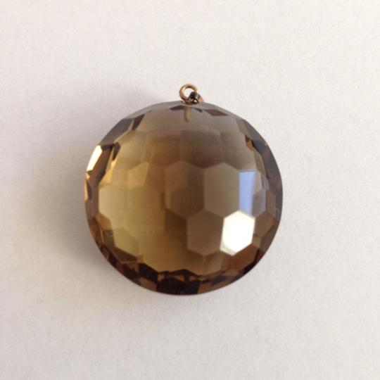 Other 14K Gold Faceted Smokey Quartz Pendant. Chain not included.