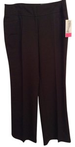 Apt. 9 64% Polyester 33% Rayon Straight Pants Black