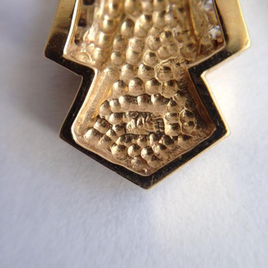 Other 14k Gold Diamond & Onyx Omega Slide Pendant.