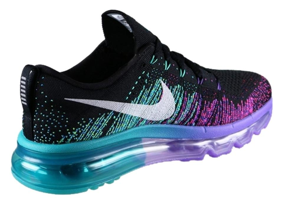 587dae26831 Nike Women s Air Max Flyknit In Box Now - Black Venom Purple Turbo Green -  Women s Sneakers