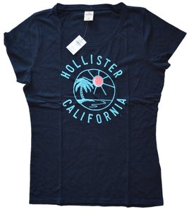 Hollister Casual Party Summer T Shirt Black