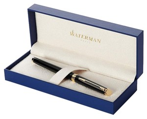 Waterman Paris Authentic Royal Blue Waterman Ballpoint Pen with Gold Trim GT and a blue ballpoint additional refill