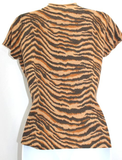 Neiman Marcus Print Cashmere Top