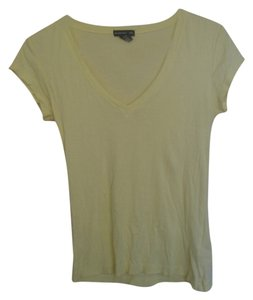 Club Monaco V-neck Cotton T Shirt yellow