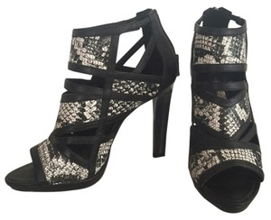 BCBGMAXAZRIA Black & White Sandals