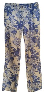 Lilly Pulitzer Ankle Print Straight Pants Blue multi