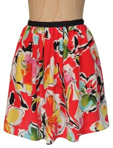 Willow & Clay Silk Skirt MULTICOLOR