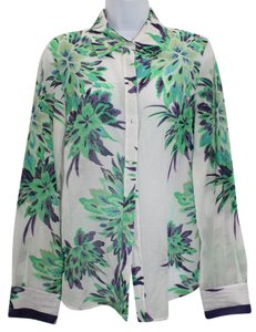 Elie Tahari Button Down Print Button Down Shirt