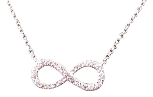 White Gold Rhodium Over Sterling Silver Cz Infinity Necklace White Gold Rhodium Over Sterling Silver Cz Infinity Necklace Image 1
