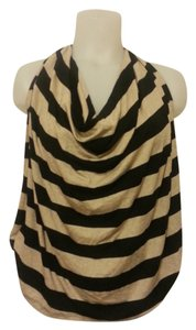 Ella Moss Draped Striped Lined Halter Top