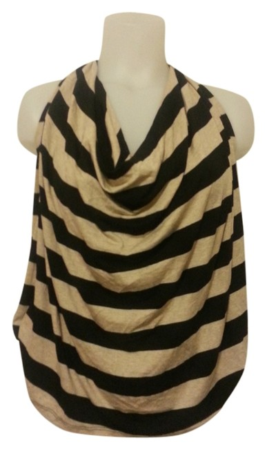Ella Moss Draped Striped Lined Night Out Date Night Strappy Halter Top
