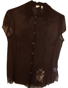 Silk For Love And Liberty Top Brown