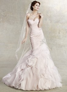 KittyChen Couture Ice Pink Trumpet Gown Wedding Dress