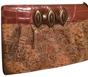Susan Gail Olive/brown Clutch