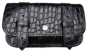 Proenza Schouler New! Proenza Schouler Black Calf Leather Crocodile Wallet