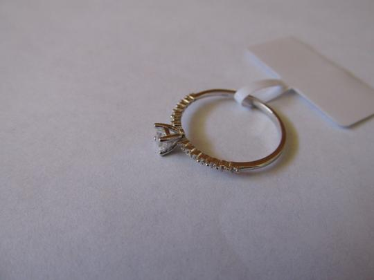 Other White Gold Rhodium Over Sterling Silver CZ Ring Size 6