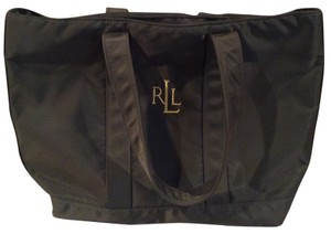 Lauren Ralph Lauren Vintage Travel Shopping Green Lg Tote in Forest Green