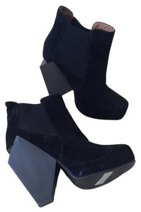 Geometric Booties Black Boots