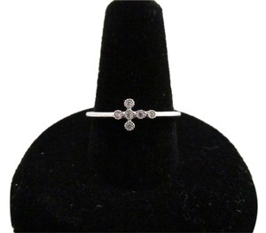 Other 925 Sterling Silver CZ Cross Ring Size 7