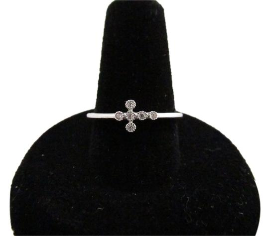 Preload https://item2.tradesy.com/images/925-sterling-silver-cz-cross-size-7-ring-4242676-0-0.jpg?width=440&height=440