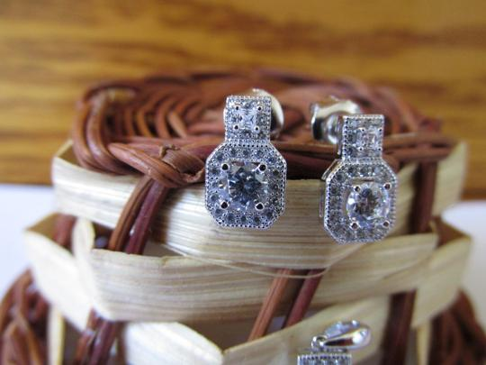 Other 925 Sterling Silver CZ Earrings and Pendant Set
