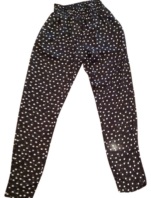 Enza Costa Baggy Pants Black and white