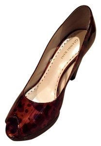 Gianni Bini Animal print, peep toe Pumps
