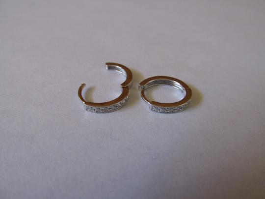 Other Sterling Silver Pave CZ Hoop Earring