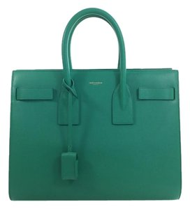 Saint Laurent Sac De Jour Satchel in Bright Green