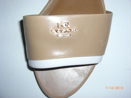 Coach Leather Tan/Nude Sandals