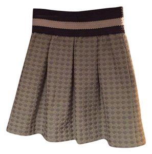 Maeve Mini Skirt Grey, cream and mint green