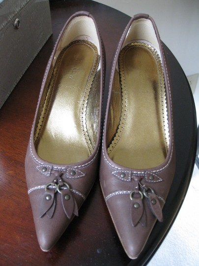 J.Crew Leather Brown Pumps