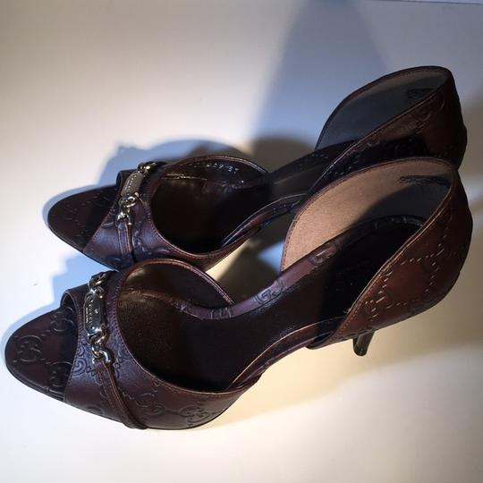 Gucci Leather Pump Soft Chocolate Formal