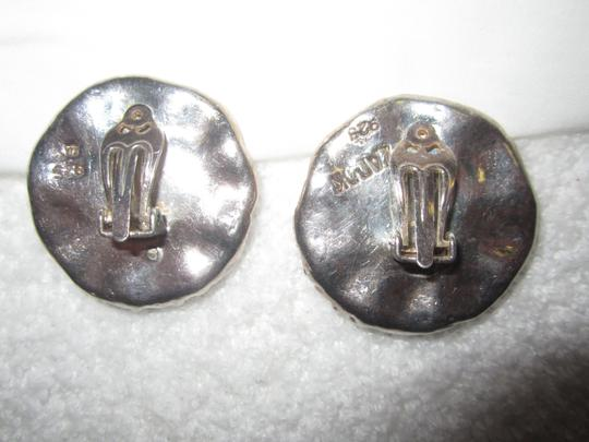 Zadok Arts Modernist ZADOK Sterling Silver Clip On Earrings