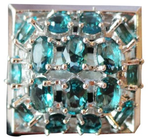 Other Large London Blue Topaz 925 Sterling Siver Cocktail Ring 8