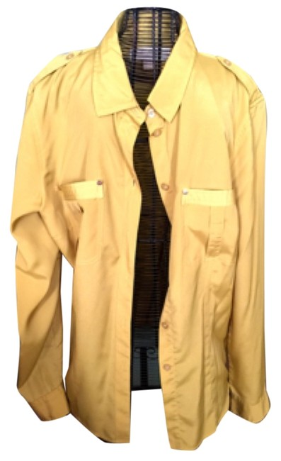 Michael Kors Button Down Shirt Mustard
