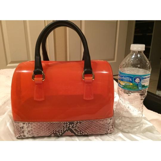 Furla Satchel in Orange And Snakeskin