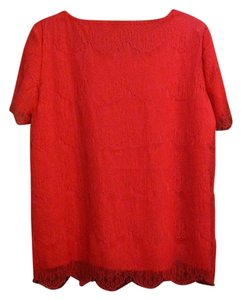 Shabby Apple Top Coral