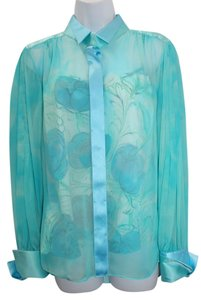 Elie Tahari 2-pc. Aqua Sheer Silk Top