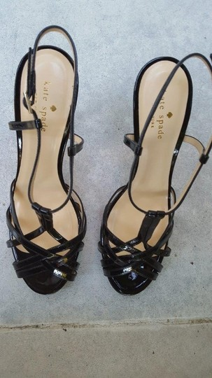 Kate Spade Leather Leather Sole Black Sandals