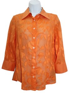 Robert Graham Orange Cotton Shirt Button Down Shirt
