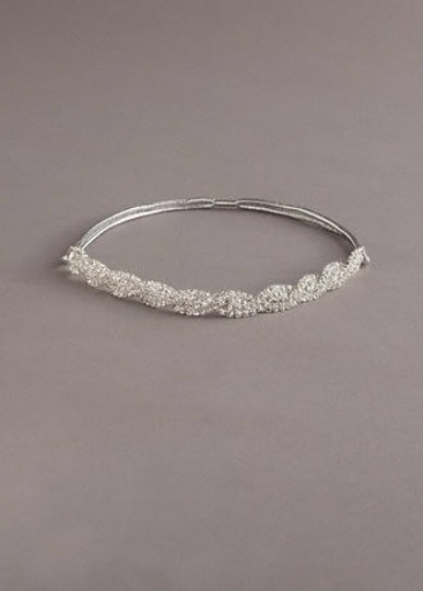 Diamond/Silk White/Other David's Headband Hair Accessory