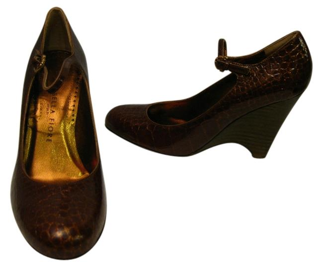Isabella Fiore Wine Patent Leather Mary *new* Wedges Size US 6 Regular (M, B) Isabella Fiore Wine Patent Leather Mary *new* Wedges Size US 6 Regular (M, B) Image 1