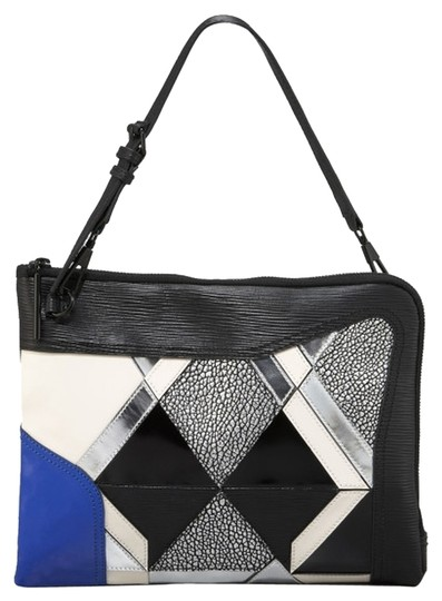 Preload https://item4.tradesy.com/images/31-phillip-lim-axial-patchwork-black-blue-white-silver-leather-clutch-4246798-0-0.jpg?width=440&height=440